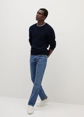 MANGO MAN - Organic cotton sweater white - S - Men