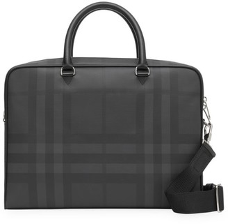 Burberry Ainsworth London Check Leather Briefcase