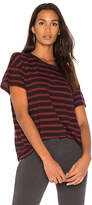 The Great The Boxy Crew Tee in Burgundy. - size 0 / XS (also in 1 / S,2 / M)