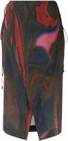 OSKLEN midi printed skirt
