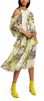Party Dressing Floral Pearl Edge Dress
