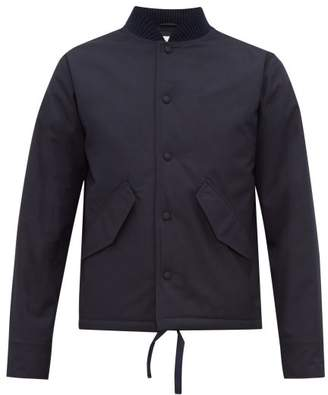 Officine Generale Mathis Water Repellent Bomber Jacket - Mens - Navy