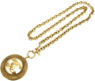 Chanel CC Gold Metal Necklaces
