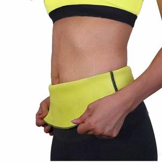 Etel Women's Sauna Waist Slimming Detox Tummy Tuck Wrap, Yellow