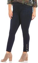 Peter Nygard Nygard Slims Plus Luxe Denim Ankle Snap Jeans