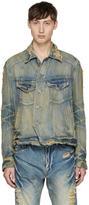 Julius Indigo Distressed Denim Jacket