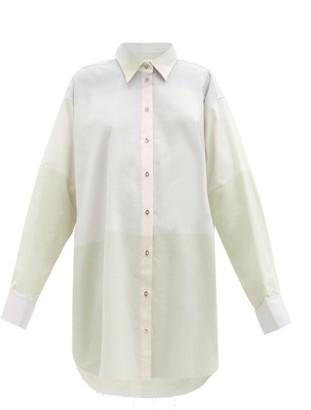 Marques Almeida Oversized Checked-cotton Mini Shirt Dress - Light Pink