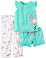 Carter's 3-Pc. Flamingo Pajama Set, Toddler Girls (2T-5T)