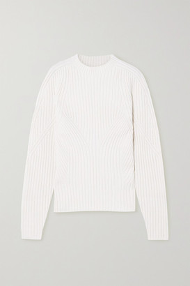 Low Classic Cutout Ribbed-knit Sweater - Ivory