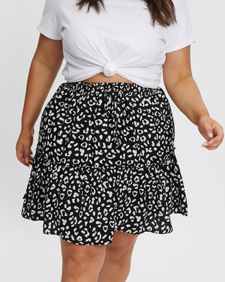You & All Animal Print Skater Skirt