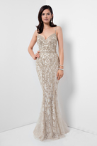 Terani Couture Gorgeous Beaded V-Neck Mermaid Gown 1621GL1907