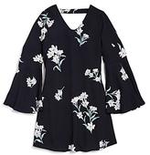 Aqua Girls' Floral Print Bell Sleeve Dress, Big Kid - 100% Exclusive