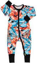 Bonds Baby New Era Floral Print Wondersuit Sleepsuit, Coral