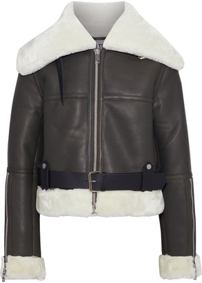 Walter Baker Mandie Faux Shearling-trimmed Leather Jacket