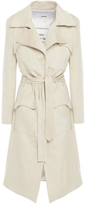 Each X Other Faux Suede Trench Coat