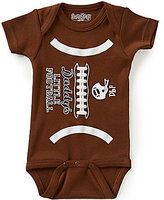 Sara Kety Baby Boys Newborn-18 Months Daddy's Little Football Short-Sleeve Bodysuit