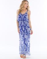 Soma Intimates Chiffon Flounce Maxi Dress Spirit Paisley Jewel