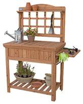 Backyard Discovery Potting Bench With Removable Top, Folding Shelf - Bronze