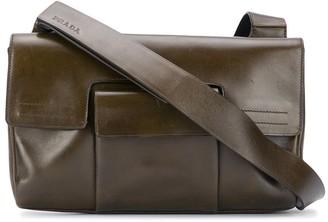 Prada Pre Owned 2000s Flap Crossbody Bag