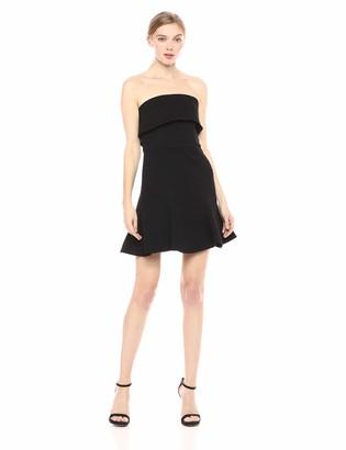 C/Meo Women's FLUIDITY Strapless FIT & Flare Short Mini Dress