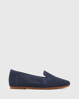 Wittner - Women's Navy Loafers - Ambition Recycled Flyknit Loafers - Size One Size, 38 at The Iconic