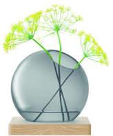 LSA International Axis Vase & Ash Base 22cm Grey
