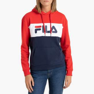 Fila Lori Colour Block Slip-On Hoodie in Cotton Mix with Pocket
