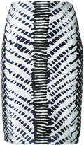 Yigal Azrouel Herringbone high-waisted skirt