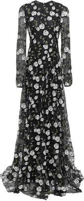 Giambattista Valli Embroidered Cotton-blend Corded Lace Gown
