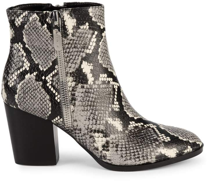 Nine West Niomi Snakeskin-Embossed Ankle Boots