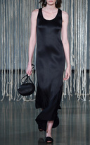 Barbara Casasola Black Scoop Neck Fluted Dress
