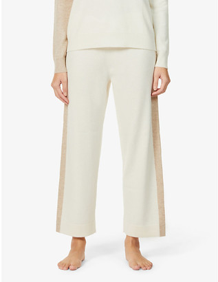 Chinti and Parker Cropped wide-leg high-rise cashmere trousers