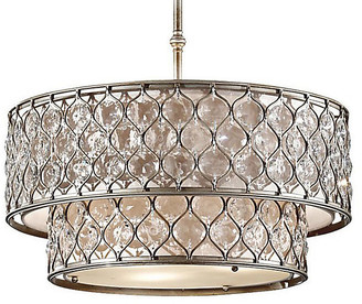 Feiss Lucia Chandelier - Burnished Silver