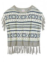 Justice Girls Tribal Fringe Poncho Sweater
