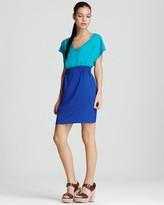Dress - V Neck Color Block