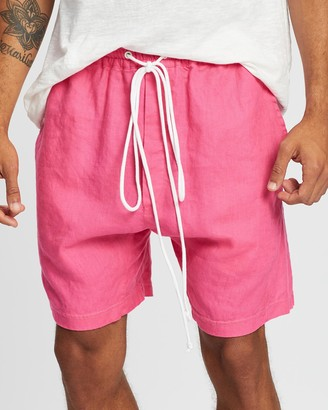 Surrounded By Ghosts The Obsidian Linen Drawstring Shorts