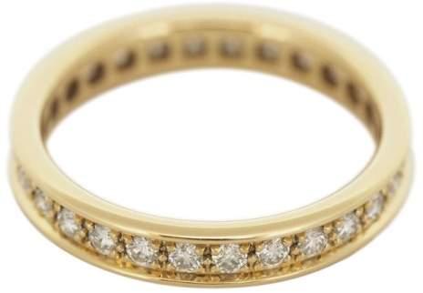 Cartier 18K Yellow Gold Diamonds Eternity Ring Size 5.25