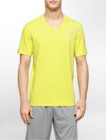 Calvin Klein Performance Sound Wave Logo Print V-Neck T-Shirt