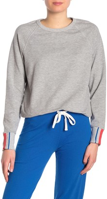 PST by Project Social T Colette Heathered Striped Cuff Sweatshirt