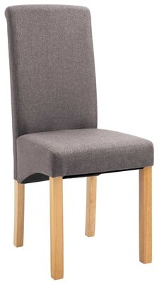 Ebern Designs Fitchner Upholstered Dining Chair Upholstery Color: Blue