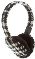 Burberry Wool Houndstooth Earmuffs