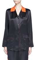 Givenchy Contrast collar silk satin pyjama shirt