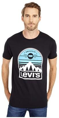 Levi's Redwood Tee (Black) Men's Clothing