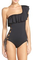 Laundry by Shelli Segal Women's One-Shoulder One-Piece Swimsuit