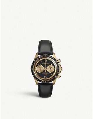Bell & Ross BRV294-BC-BR/SCA Vintage Bellytanker BR V2-94 Bellytanker bronze and leather chronograph watch