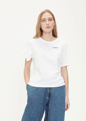 Aalto Women's Short Sleeve T-Shirt in White Size 40 Cotton/Elastane