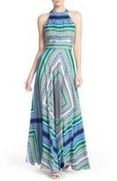 Eliza J Women's Scarf Print Chiffon Maxi Dress
