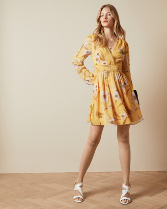 Ted Baker POSYY Cabana long sleeve mini dress