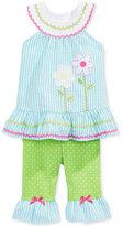 Nannette 2-Pc. Seersucker Flowers Tunic and Capri Leggings Set, Baby Girls (0-24 months)