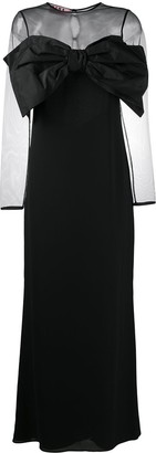Gina Bow-Detail Panelled Gown